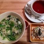 横浜モアーズの中にあるカフェ『カフェ・ド・ファリニエール』でランチ。