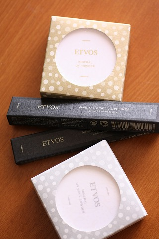 ETVOS UV POWDER2014&PENCIL EYELINER